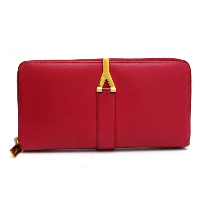Item - Red Color Zipper Ladies Long 314991-0416 Leather Dh55304 Wallet
