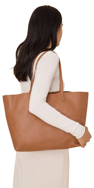 Mansur Gavriel Oversized Carmelo Orange Leather Tote Mansur Gavriel Oversized Carmelo Orange Leather Tote Image 1