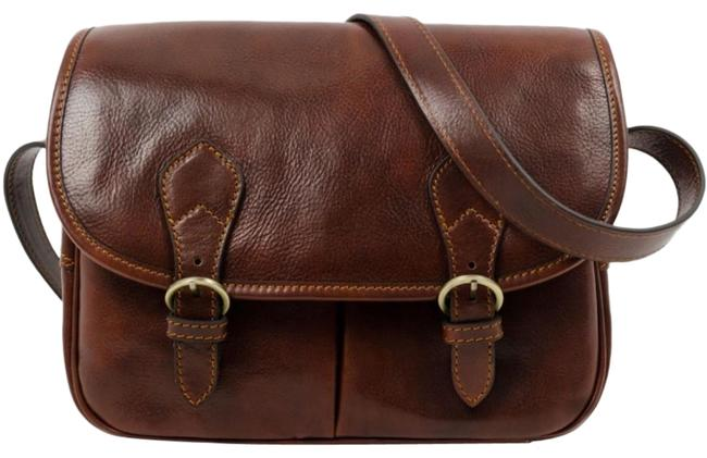 Time Resistance The Paris Wife Brown Leather Messenger Bag Time Resistance The Paris Wife Brown Leather Messenger Bag Image 1