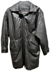 Wilson Hooded Lined Dryclean Only Leather Jacket