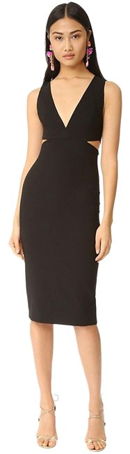 Item - Black Riki Cutout Fitted Mid-length Night Out Dress Size 2 (XS)