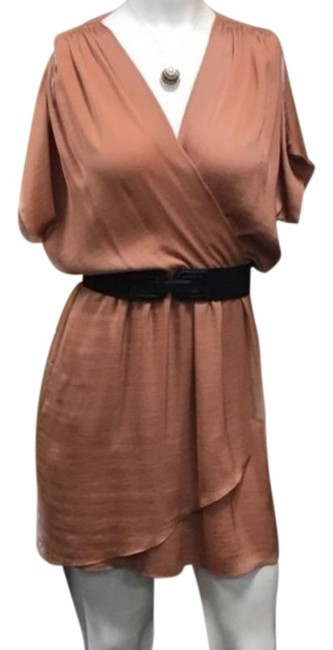 Item - Copper Faux Wrap Short Cocktail Dress Size 2 (XS)