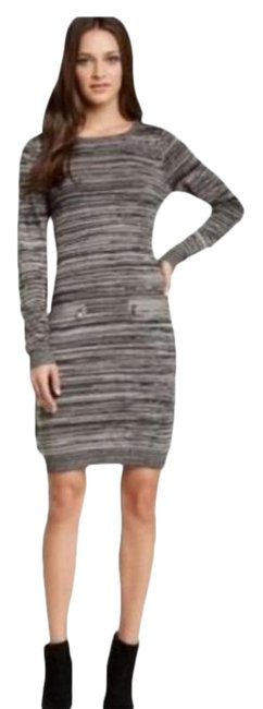 Item - Marbled Heather Gray Long Sleeve Sweater Mid-length Work/Office Dress Size 8 (M)