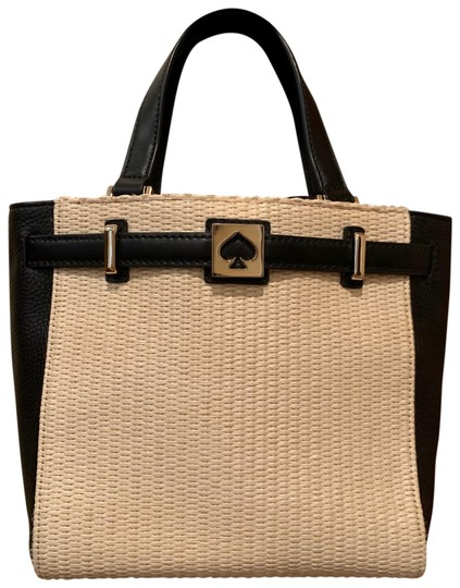 Preload https://img-static.tradesy.com/item/26970236/kate-spade-small-black-and-cream-leather-tote-0-1-540-540.jpg