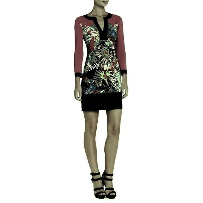 Item - Red Hayden Printed Shift Mid-length Formal Dress Size 00 (XXS)