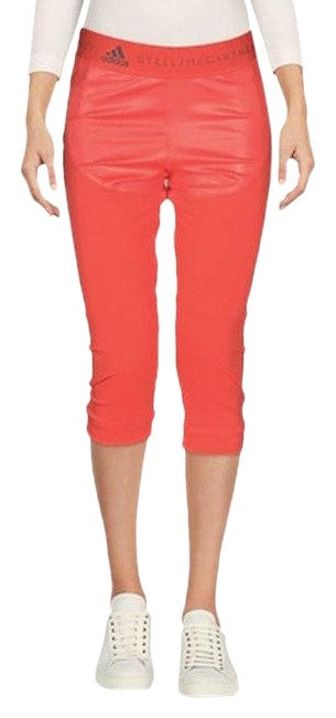 Item - Coral Stella Mccartney Run 3/4 Tights Perforated Leggings Activewear Bottoms Size 6 (S, 28)