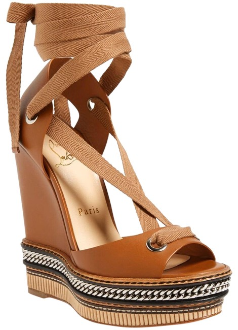 Christian Louboutin Brown Tribuli Wedges Size US 10 Regular (M, B) Christian Louboutin Brown Tribuli Wedges Size US 10 Regular (M, B) Image 1