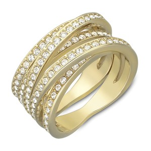 """Swarovski 70% OFF! GENTLY USED Gold-plated """"SPIRAL"""" ring"""