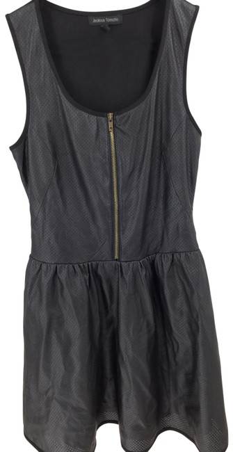 Item - Black Faux Leather Short Night Out Dress Size 4 (S)