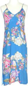 Blue Maxi Dress by Spell & the Gypsy Collective Boho Floral Spaghetti Strap Low Back