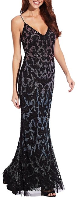 Item - Black Multi Beaded Sequin Long Formal Dress Size 12 (L)