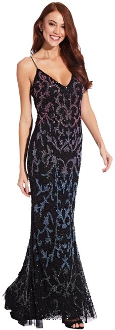 Item - Black Multi Beaded Sequin Long Formal Dress Size 16 (XL, Plus 0x)