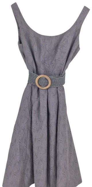 Item - Gray Belted Mid-length Night Out Dress Size 4 (S)
