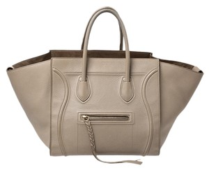 Céline Leather Tote in Beige