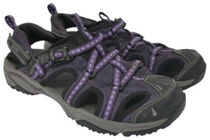 Ahnu Hook Loop Crank Purple Sandals