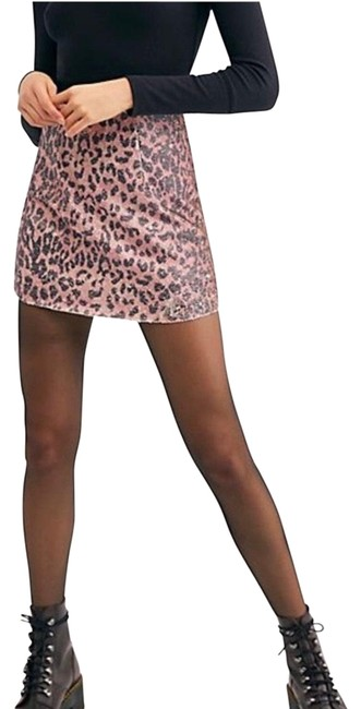 Item - Pink Black Gold Cheetah Sequin Skirt Size 2 (XS, 26)