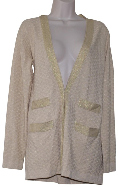 Item - Gold Cornsilk Multi Wool Cashmere Blend Button Cardigan Size 8 (M)
