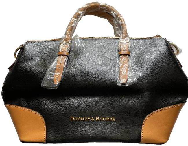Item - Black with Brown Leather Clutch