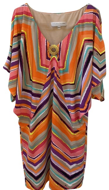 Item - Pink/Purple Mid-length Casual Maxi Dress Size 2 (XS)
