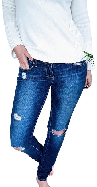 Item - Blue Distressed Verdugo Ultra Denim Skinny Jeans Size 25 (2, XS)