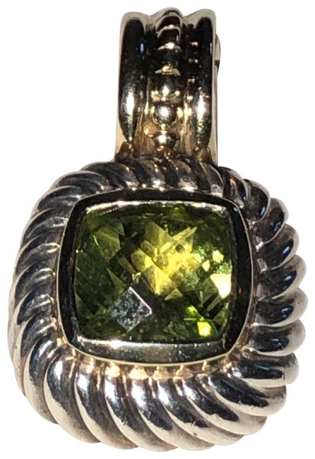 Item - Sterling with Peridot and Gold Bale Petite Albion Pendant Necklace