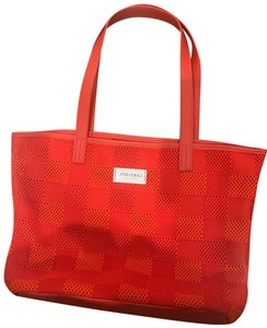 shiseido Tote in red