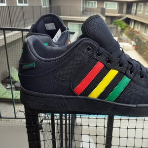 adidas Black red gold and green Athletic