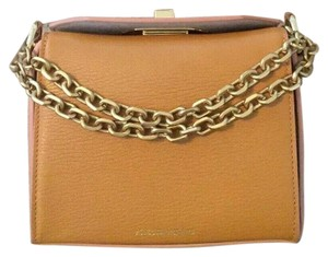 Alexander McQueen Leather Gold Chain Box Iconic Cross Body Bag