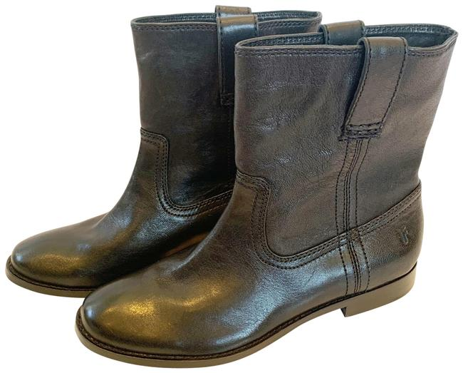 Frye Black Leather Pull Boots/Booties Size US 6.5 Regular (M, B) Frye Black Leather Pull Boots/Booties Size US 6.5 Regular (M, B) Image 1