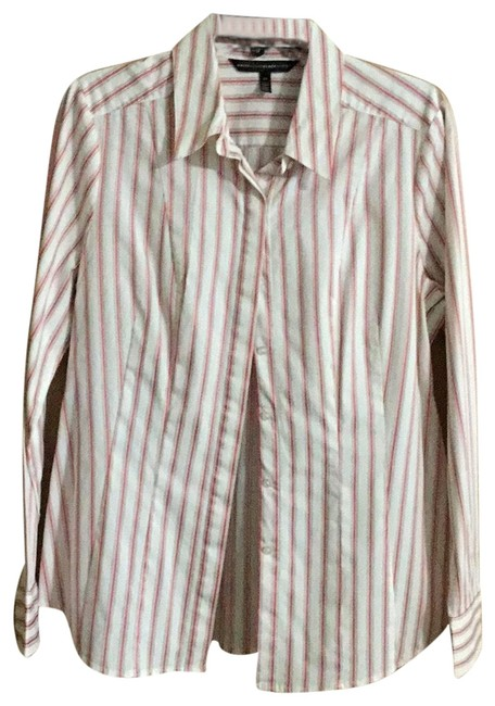 Item - A Red and Stripes Blouse Size 14 (L)