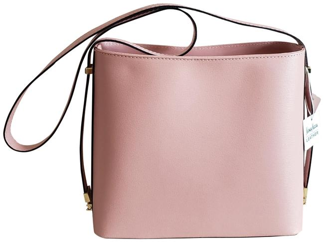 Neiman Marcus New Pebbled Leather Pale Pink & Black Lacquered Edge Structured Shoulder Bag Neiman Marcus New Pebbled Leather Pale Pink & Black Lacquered Edge Structured Shoulder Bag Image 1
