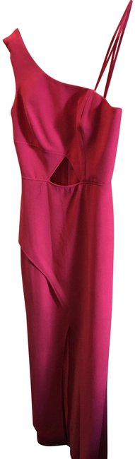 Item - Pink One Shoulder Hot Cutout Long Formal Dress Size 4 (S)