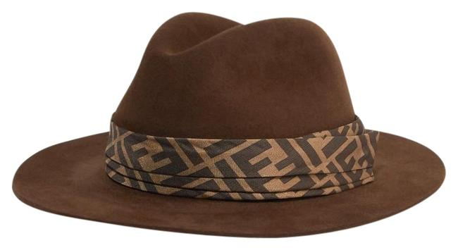 Item - Printed Silk Twill-trimmed Rabbit-felt Fedora Hat