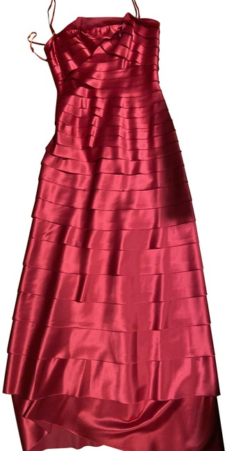 Item - New Red Ribbon Woven Long Formal Dress Size 2 (XS)