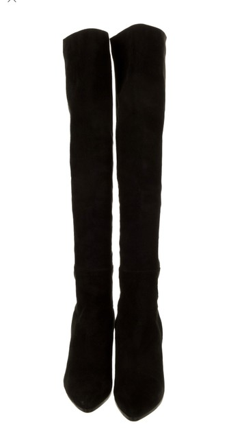 Item - Black New Suede Stretch Knee High Boots/Booties Size EU 39 (Approx. US 9) Regular (M, B)