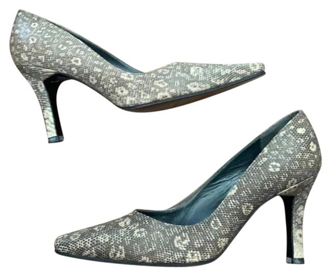 Item - Brown Tan Snakeskin Or Reptile Print Texture and Color Pumps Size US 8 Wide (C, D)