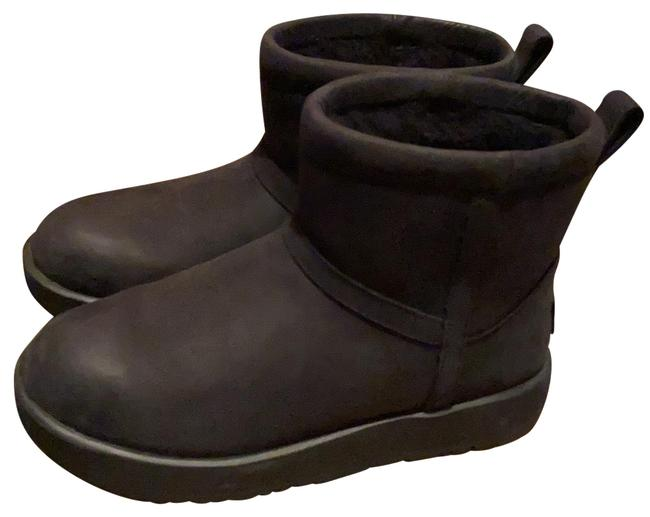 Item - Black Women Classic Mini Leather Waterproof Ankle Boots/Booties Size US 6.5 Wide (C, D)