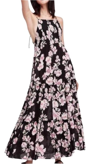 Free People Black Garden Party Long Casual Maxi Dress Size 2 (XS) Free People Black Garden Party Long Casual Maxi Dress Size 2 (XS) Image 1