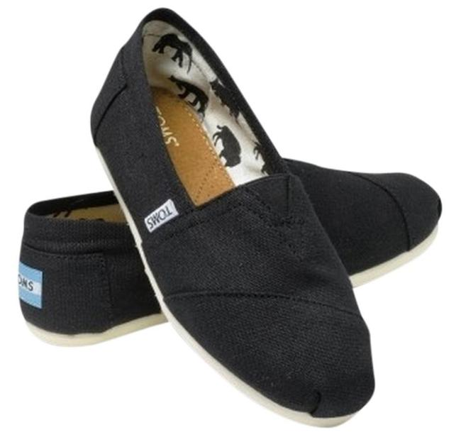 Item - Black Canvas Women's Classics Flats Size US 7 Regular (M, B)