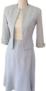 David Rodriguez Tweed Suit with Embroidery