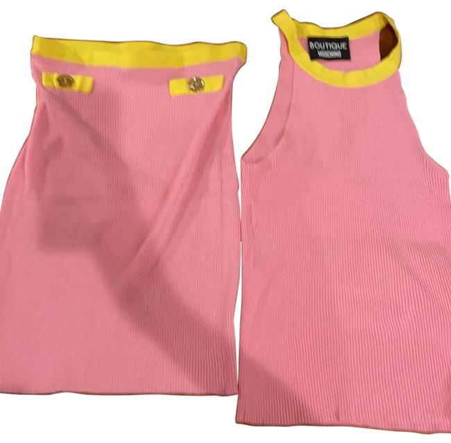 Item - Baby Pink and Yellow H A01800800 Skirt Suit Size 4 (S)