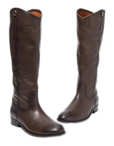 Frye Leather Riding Melissa Distressed Western Brown Boots