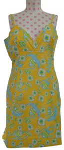 yellow Maxi Dress by Lilly Pulitzer Animal Sleeveless