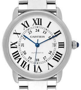 Cartier Cartier Ronde Solo XL Silver Dial Automatic Steel Mens Watch W6701011