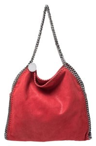 Stella McCartney Leather Faux Leather Tote in Red