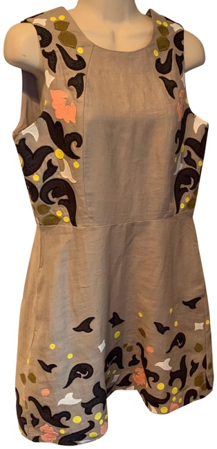 Item - Beige Peach Black White Heritage Collection Short Casual Dress Size 6 (S)