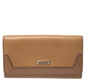 Burberry Burberry Tan Leather Flap Continental Wallet