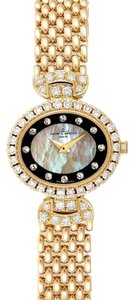 Baume & Mercier Baumer Mercier Yellow Gold MOP Diamond Vintage Cocktail Ladies Watch