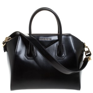 Givenchy Leather Canvas Satchel in Black