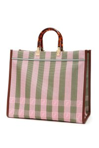Fendi Tote in Pink/Khaki/Brown